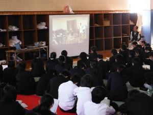 本太中学校 介護の仕事について講演会
